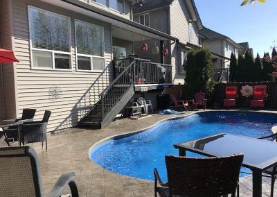 aluminum railings around the swimming pool in vancouver
